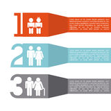 Family infographic. Design, vector illustration eps10 graphic Royalty Free Illustration