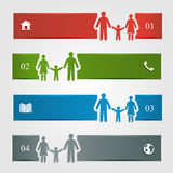 Family infographic Royalty Free Stock Images