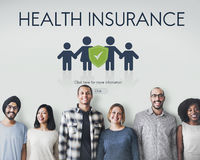 Family Insurance Reimbursement Protection Concept. Family Health Insurance Reimbursement Protection Royalty Free Stock Image