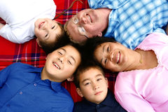 Family of intermarriage Royalty Free Stock Images