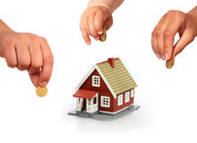 Family invest in real estate. Stock Images