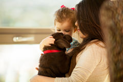 Family isn't complete without a dog Royalty Free Stock Photography