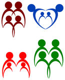 Family. Isolated illustrated abstract family logo design Royalty Free Stock Photos