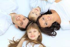Family isolated on white Stock Photos