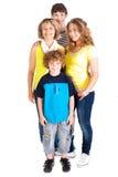 Family isolated on white background Stock Image