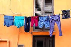 Family. Italy washing Sicily short Royalty Free Stock Image