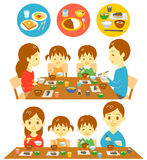 Family Japanese meals Stock Photography