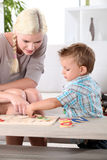 Family jigsaw puzzle Stock Photography