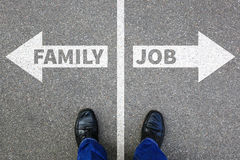 Family job work children child kids career stress overload life Royalty Free Stock Photography