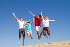 Family jumping Royalty Free Stock Image