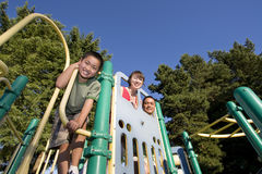 Family on Jungle Gym - Horizontal Royalty Free Stock Images