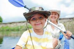 Family kayaking Royalty Free Stock Photography