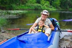 Family kayaking Stock Image