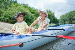 Family kayaking Royalty Free Stock Image