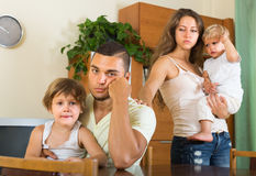 Family with kids having quarrel Stock Photography