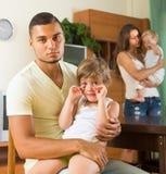 Family with kids having quarrel Stock Photo