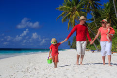 Family with kids on tropical beach Royalty Free Stock Photography