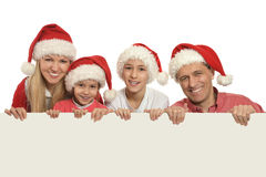 Family with kids    with white blank Stock Photo