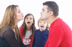 Family Kiss Stock Image