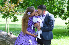 Family kiss Royalty Free Stock Images