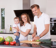 Family in Kitchen Stock Photos