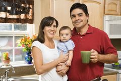 Family in kitchen. Royalty Free Stock Photos