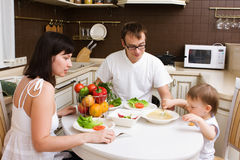 Family in the kitchen Royalty Free Stock Photography