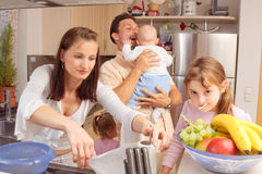 Family In The Kitchen Royalty Free Stock Image