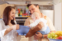 Family In The Kitchen Stock Photography