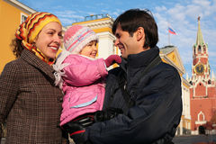 Family kremlin russia moscow. Family on kremlin background, russia, moscow stock photography