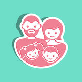 Family label Royalty Free Stock Image