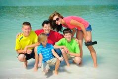 Family in lake Royalty Free Stock Image