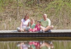 Family at the Lake Royalty Free Stock Image