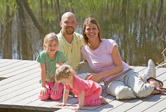 Family at the Lake stock photos