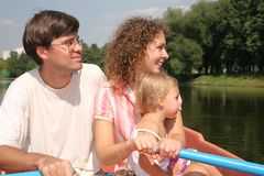 Family at the lake Stock Photography