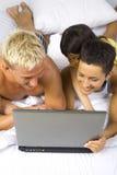 Family laptop Stock Photo