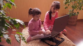 Family with laptop. Full hd stock footage