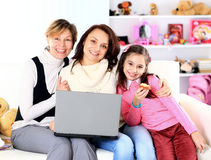 The family of a laptop. Stock Image