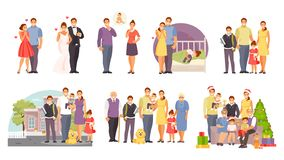 Family large vector set royalty free illustration