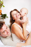 Family laughing Royalty Free Stock Photos