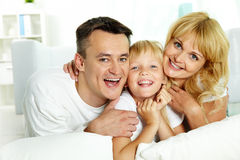 Family laughing Royalty Free Stock Photo