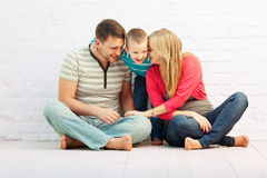 Family laughing together Royalty Free Stock Photos