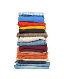 Family laundry pile of clothing Royalty Free Stock Photography