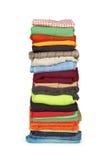 Family laundry pile of clothing Royalty Free Stock Image