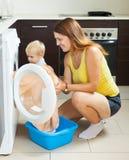 Family laundry Stock Image