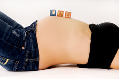 Family Law / Pregnant Woman/s Belly  Stock Photography