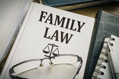 Family law book. Legislation and justice concept.  royalty free stock photography