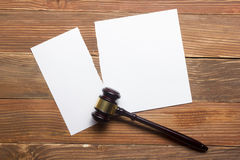 Family law concept. Divorce section of the property by legal means Royalty Free Stock Photography