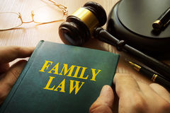 Family law. Family law on an office table stock photo