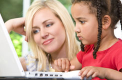 Family Learning Stock Images